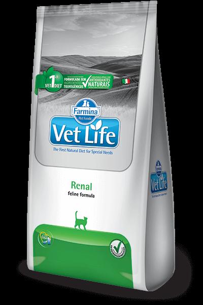 Ração Vet Life Renal para gatos  - 2 kg