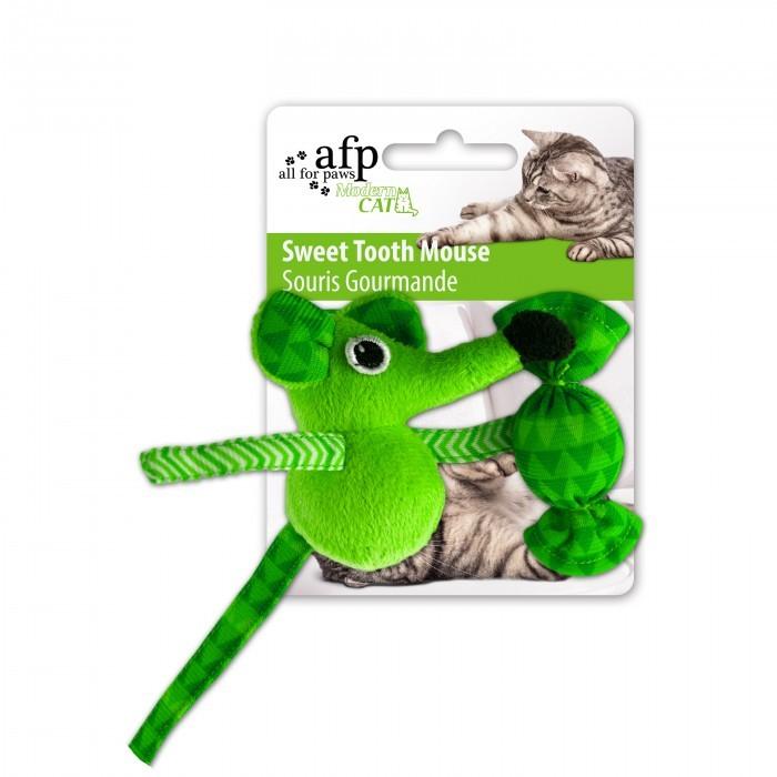 Brinquedo Ratinho Verde com Catnip