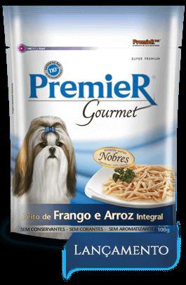 Sachê Premier Gourmet Cães Sabor Peito de Frango e Arroz Integral - 100 gramas