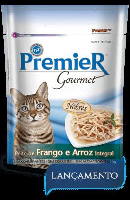 Sachê Premier Gourmet Gatos Sabor Peito de Frango e Arroz Integral - 70 g