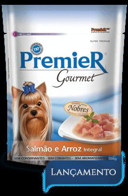 Sachê Premier Gourmet Salmão 100 g + Sachê Premier Gourmet Peito de Frango 100 g