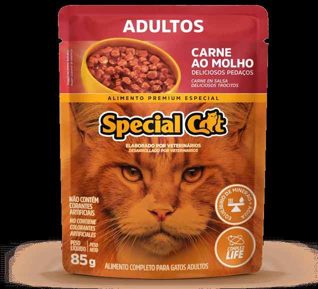 Sachê Special Cat Adultos Sabor Carne - 85g
