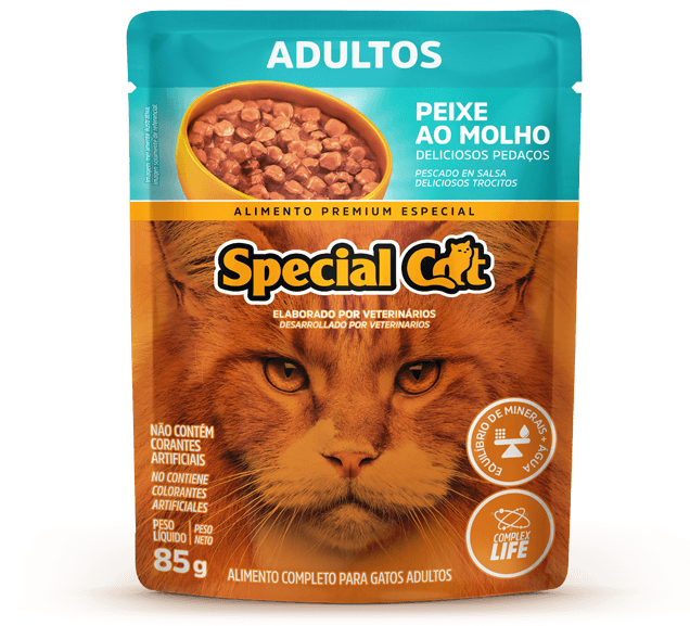 Sachê Special Cat Adultos Sabor Peixe - 85g
