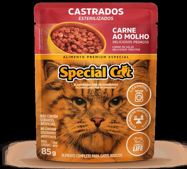 Sachê Special Cat Castrados Sabor Carne - 85g