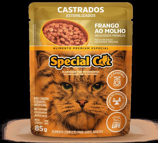 Sachê Special Cat Castrados Sabor Frango - 85g