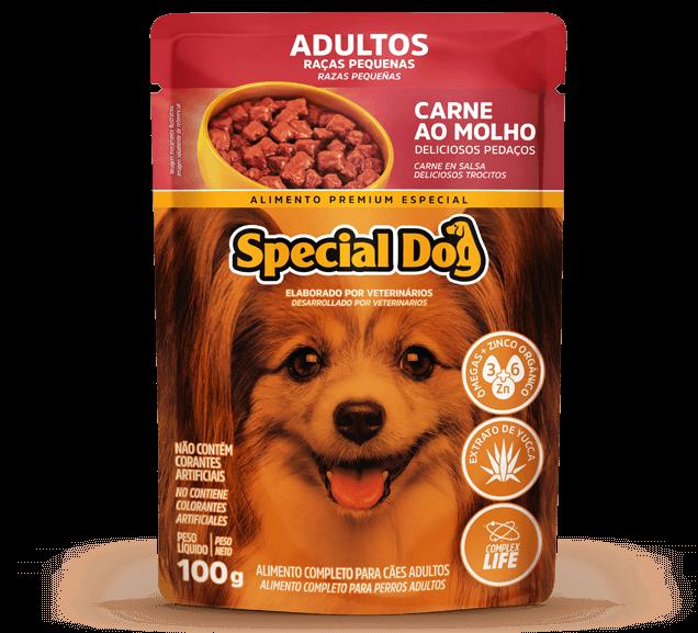Sachê Special Dog Adultos Raças Pequenas Sabor Carne - 100 g