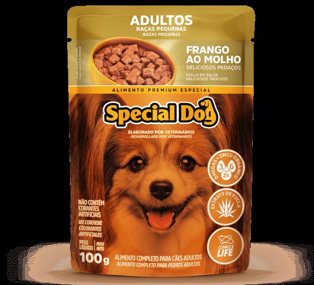 Sachê Special Dog Adultos Raças Pequenas Sabor Frango - 100 g
