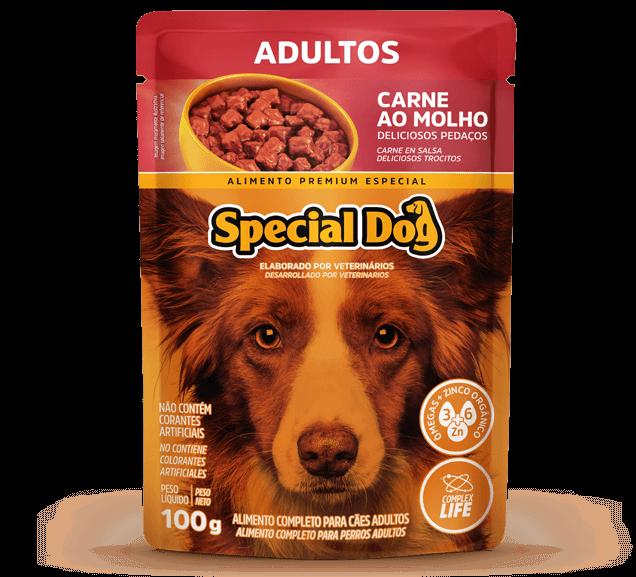 Sachê Special Dog Adultos Sabor Carne - 100g