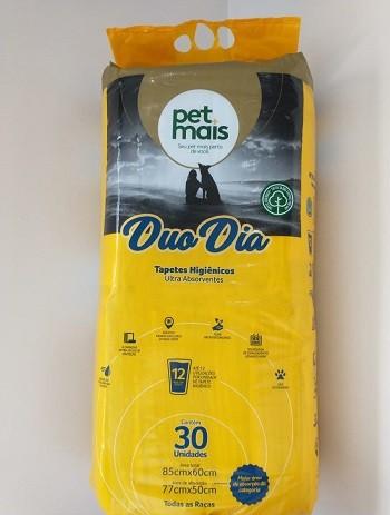 Tapete Higiênico Pet Mais Duo Dia com 30 unidades - 85x60cm para cães todos os portes