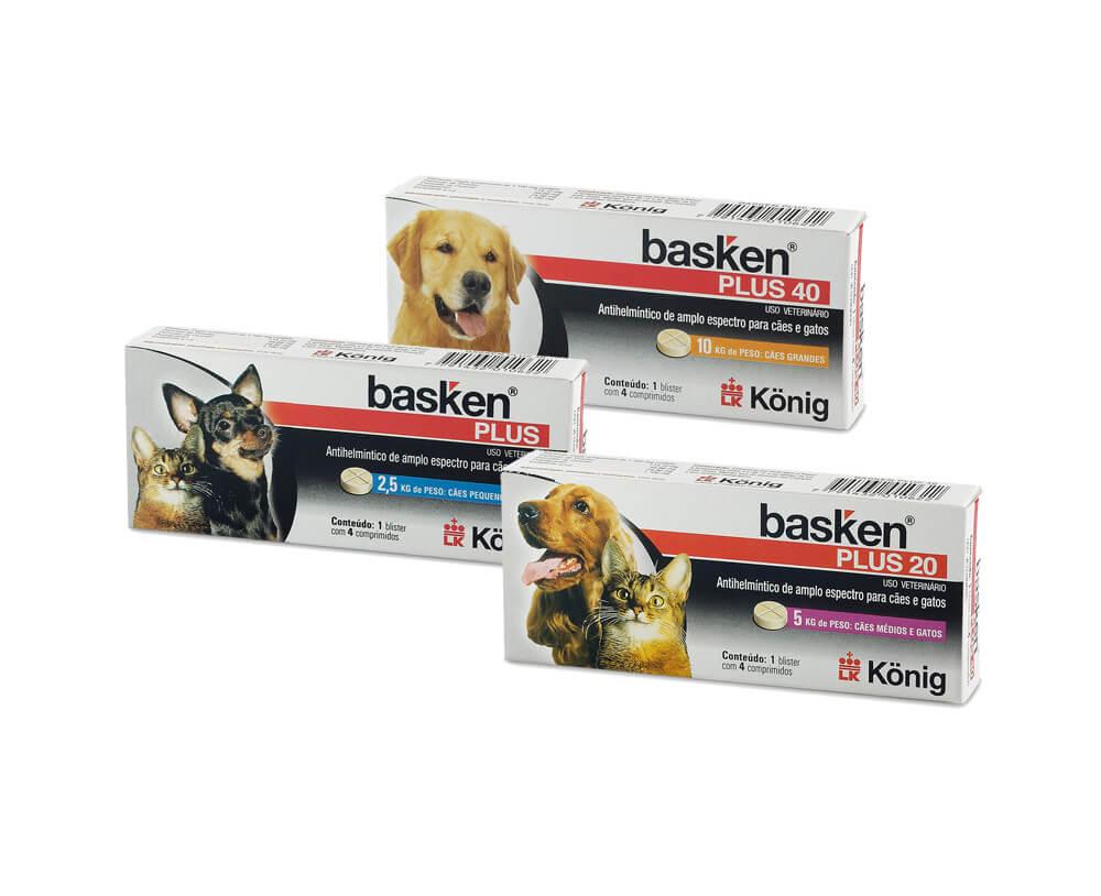 Vermífugo Basken Plus Comprimidos