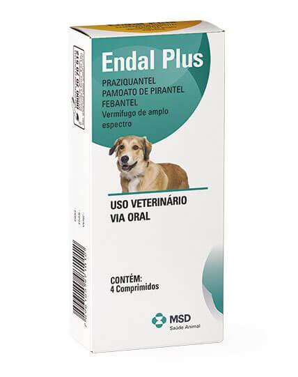 Vermífugo Endal Plus Cães - 4 Comprimidos