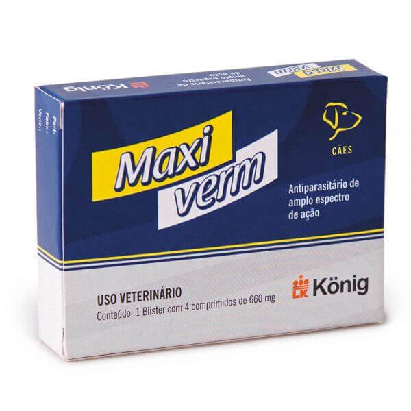 Vermífugo Maxiverm Plus para cães
