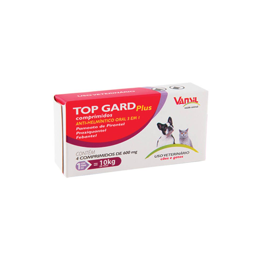 Vermífugo Top Gard Plus Cães e Gatos