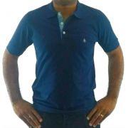d2d4a9167a masculino camisa polo camisa polo masculina azul detalhe xadrez c preto