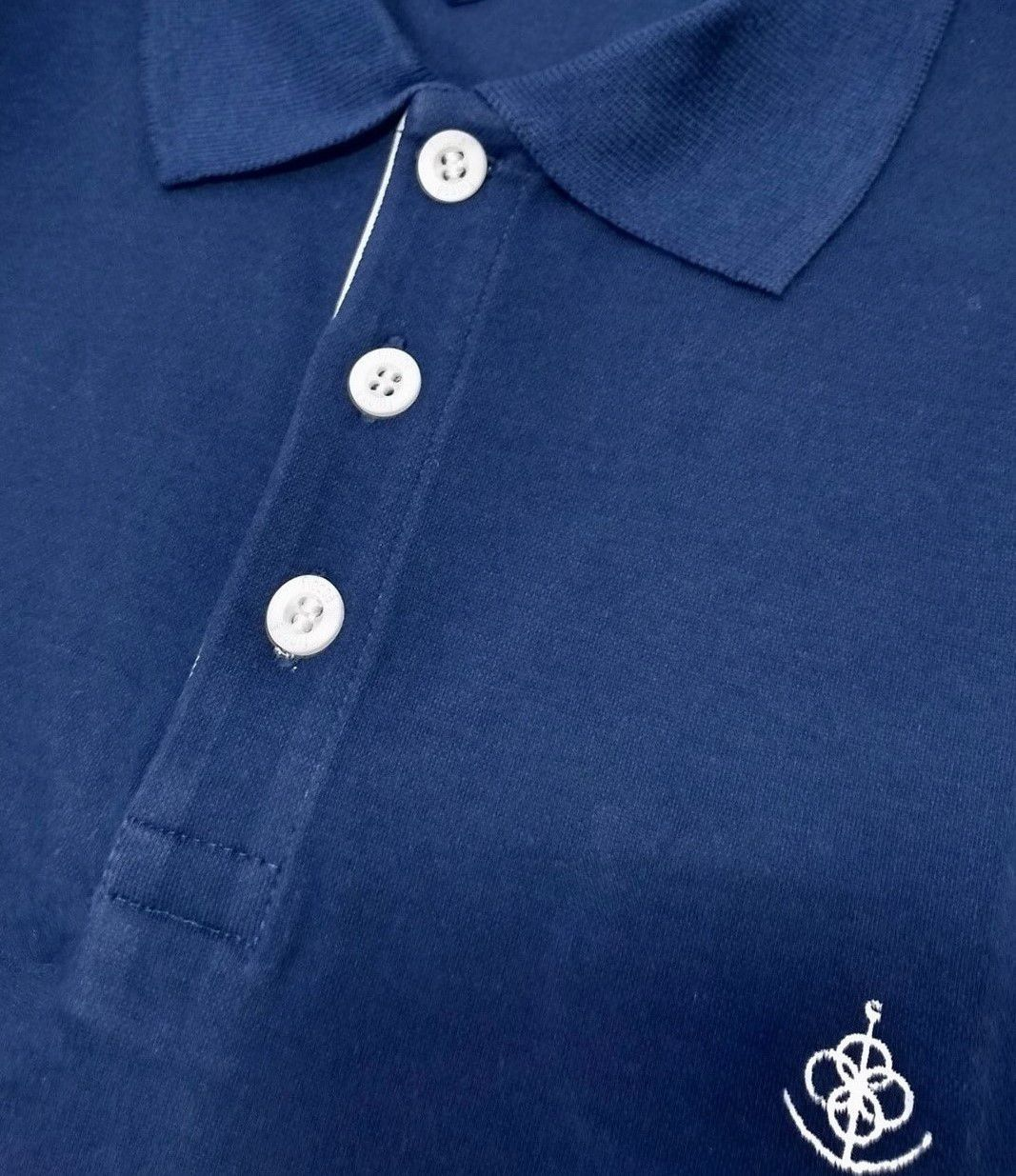 8d382c1b6fcce Camisa Polo Masculina Azul Detalhe Poá. Image description · Image  description · Image description · Image description