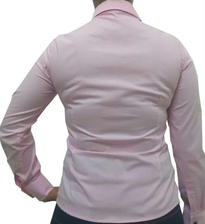... Camisa Social Feminina Slim Rosa Detalhe Floral Algodão Egípcio - Fiopoá  Camisaria c8d370e17724f