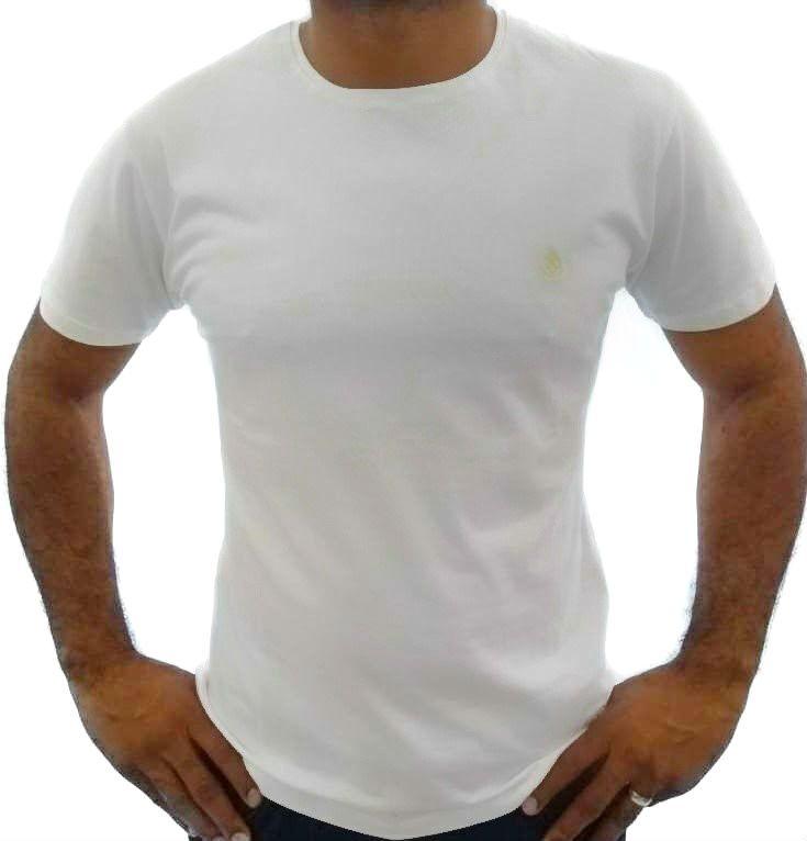 0eb0c9f878 Camiseta Básica Masculina Branca Algodão Egípcio