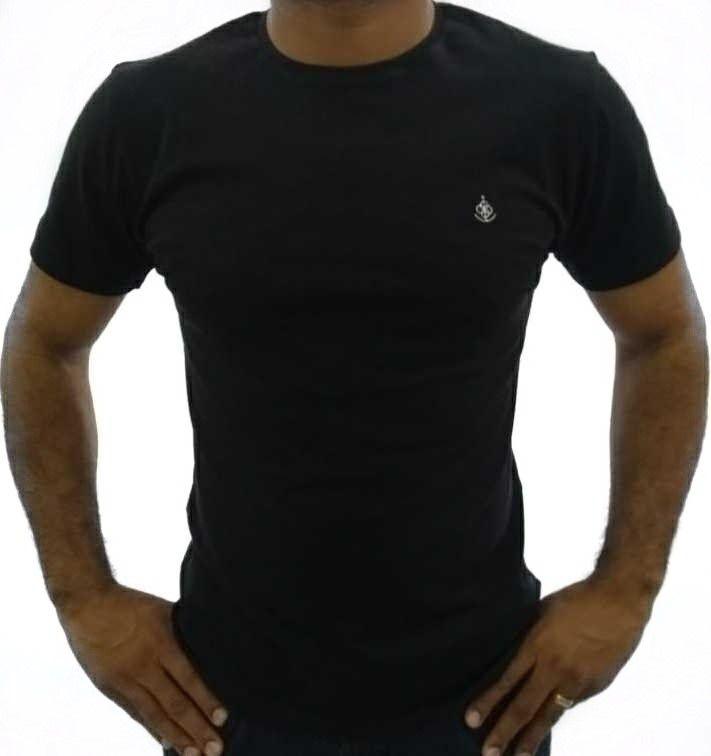 04debd205c Camiseta Básica Masculina Preta Algodão Egípcio
