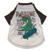 Camiseta Pet Porte Grande Dino Awesome