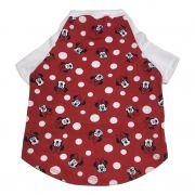 Camiseta Raglan Pet Porte Grande Minnie Vermelho