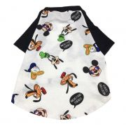 Camiseta Raglan Pet Porte Grande Turma do Mickey