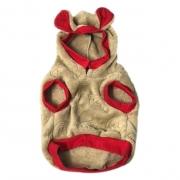 Moletom Pet Bear Fleece Bege e vermelho