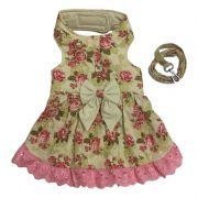 Vestido Peitoral Com Guia Floral