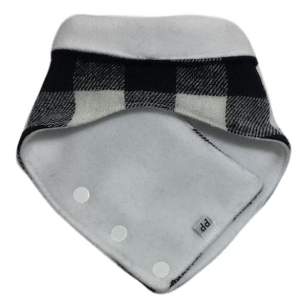 Bandana Pet Porte Grande de inverno Xadrez Preto e Branco
