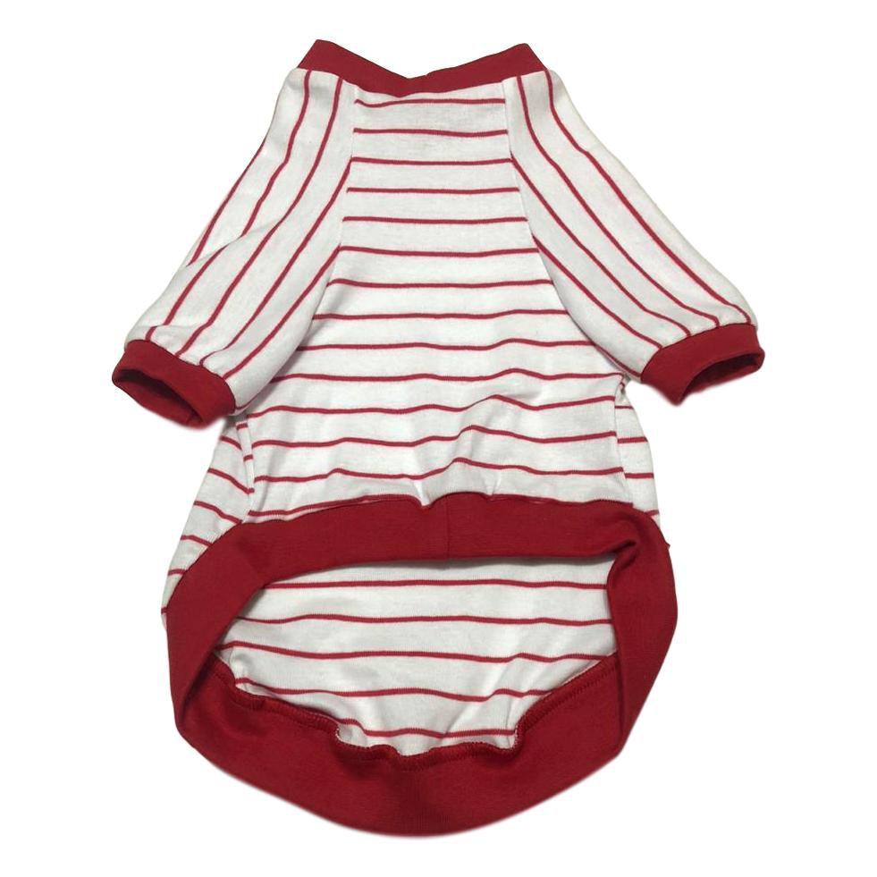 Blusa Pet Listras Vermelha