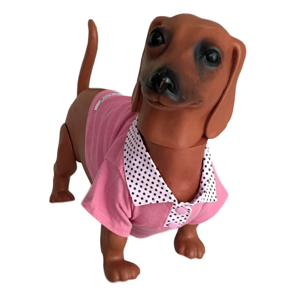 Úrsula Schmitt Moda Pet - Camiseta Gola Polo Para Cachorro Grande Porte 32c82bc698f