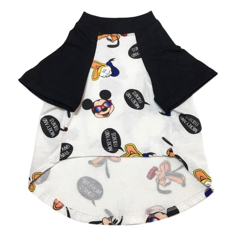 Camiseta Raglan Pet Porte Grande Turma do Mickey