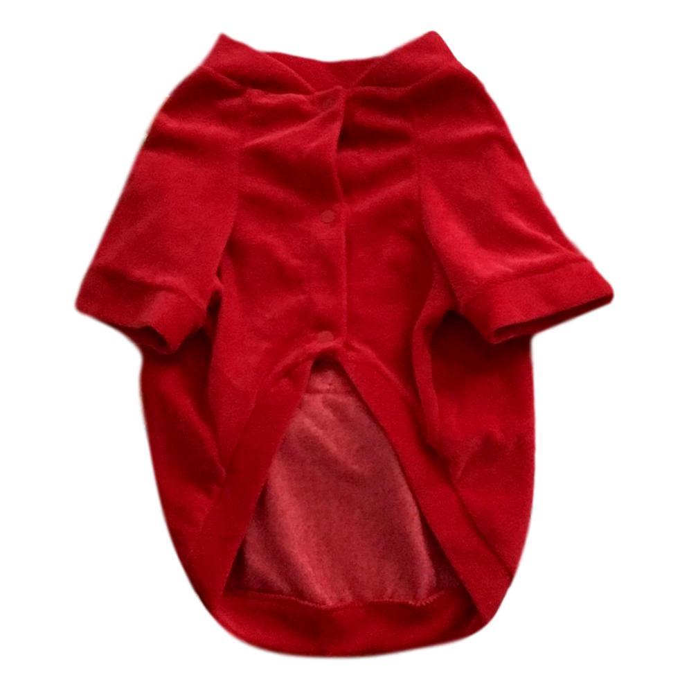 Casaco Pet de Plush Vermelho Ursinho