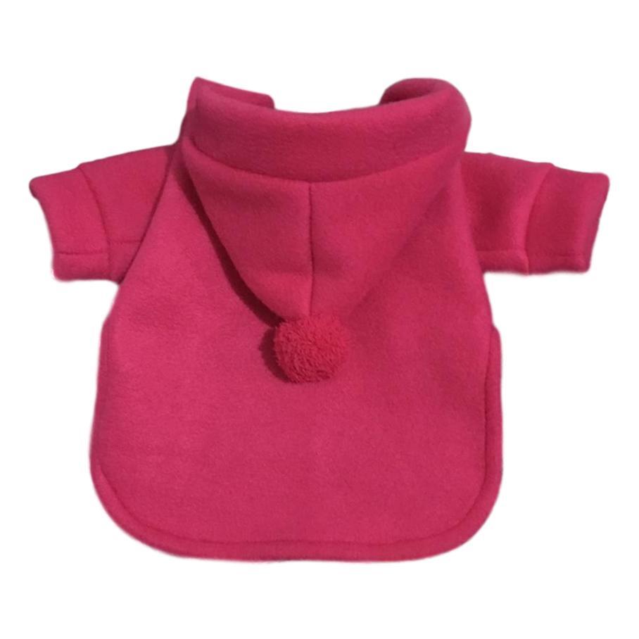 Casaco Pet Pompom Pink