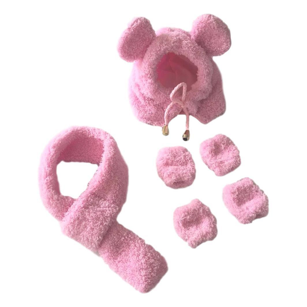 Kit Pet Inverno Ursinha Polar Rosa