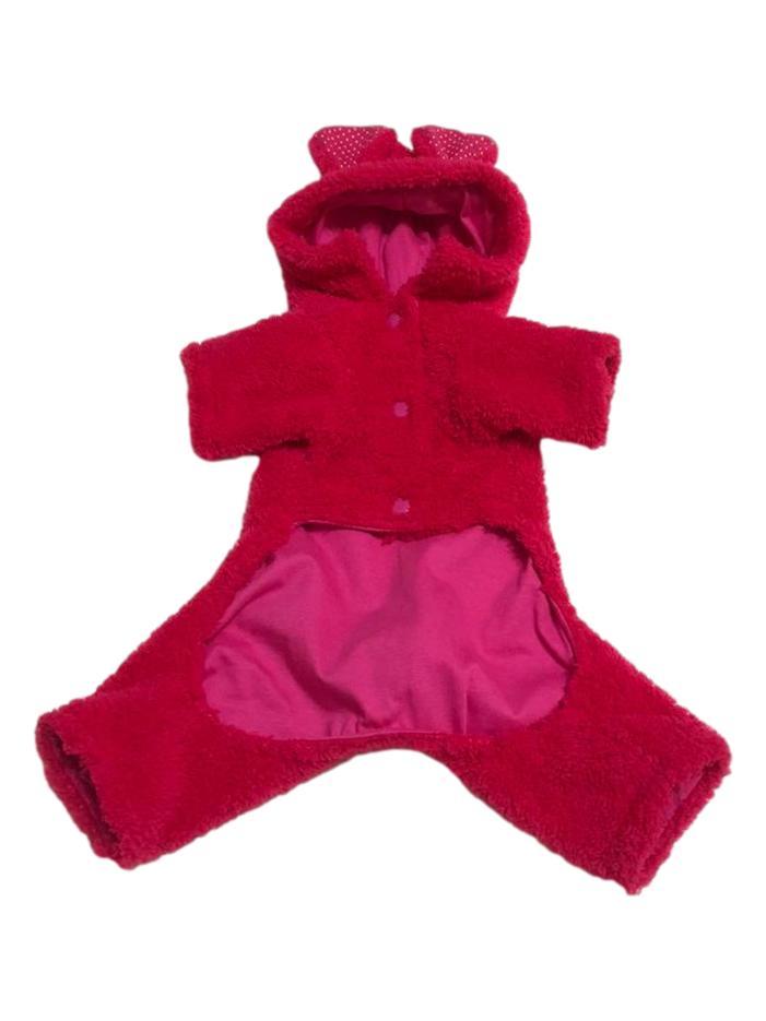 Macacão Pet Bear Pink
