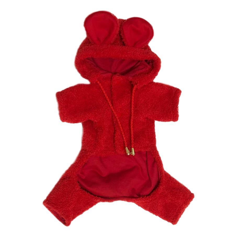 Macacão Pet Bear Vermelho