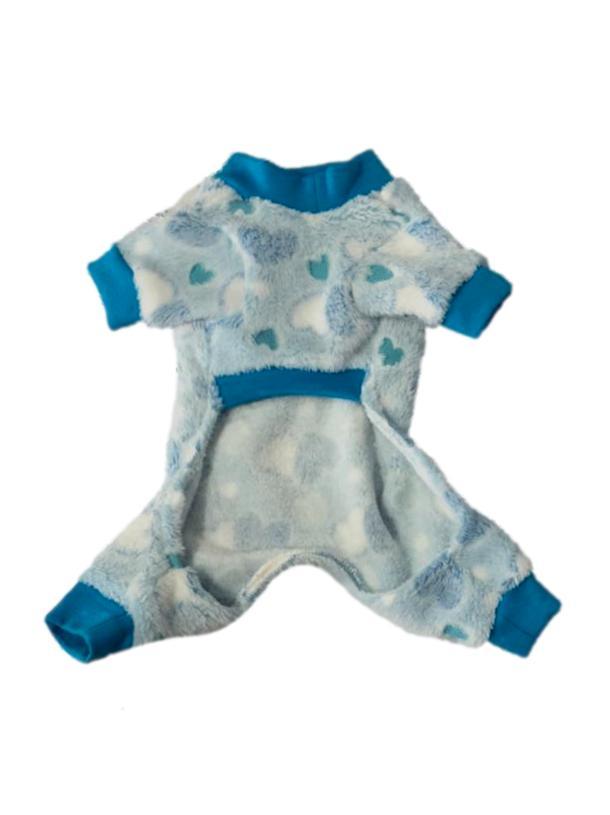 Macacão Pet Fleece Azul