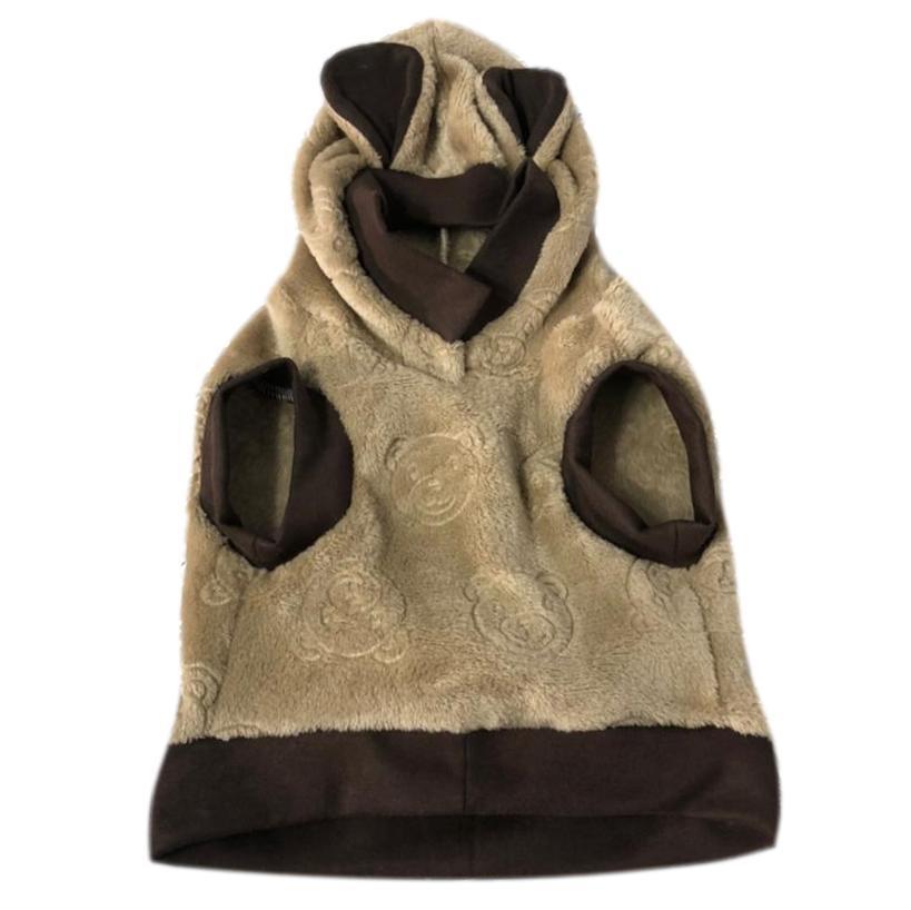 Moletom Pet Porte G Bear Fleece Marrom