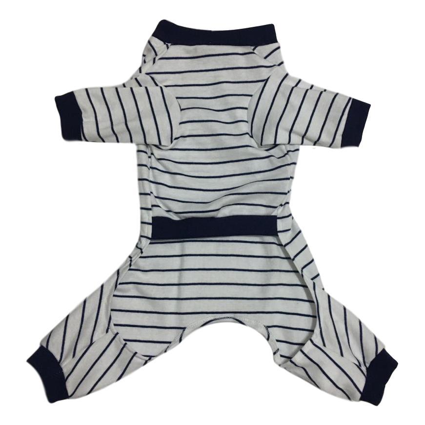 Pijama Para Cachorro Listrado Azul Marinho
