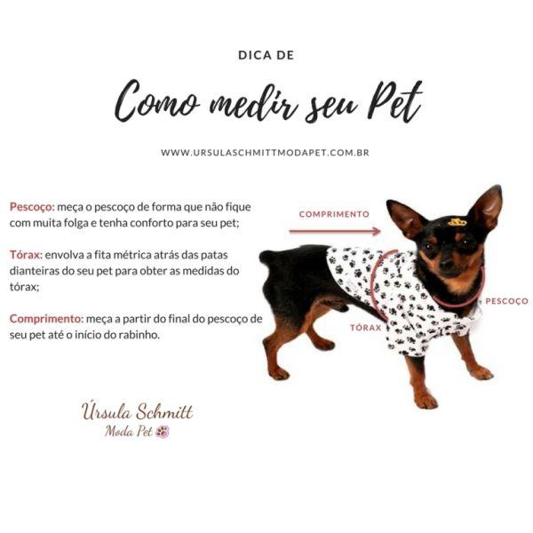 Pijama Pet Bege Ursinha Bailarina