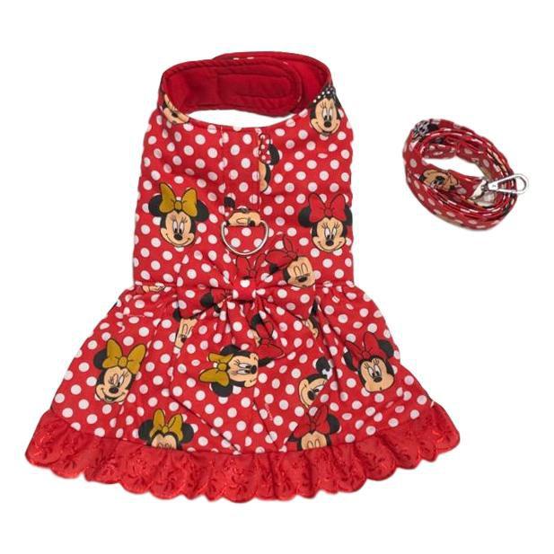 Vestido Com Guia Minnie