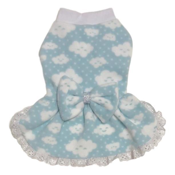 Vestido Pet Chuva de Amor Azul