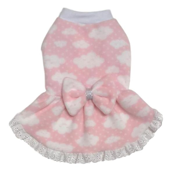 Vestido Pet Chuva de Amor Rosa