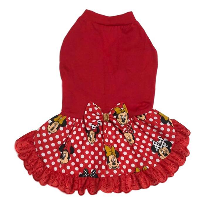 Vestido Pet Malha Minnie