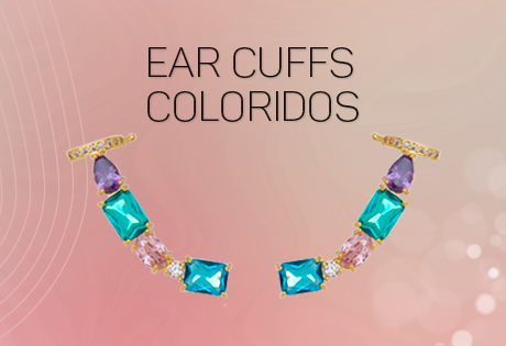 ear cuffs coloridos