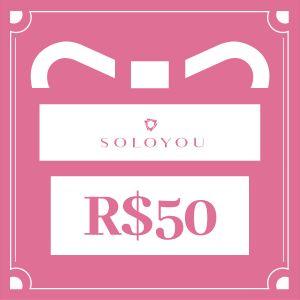 Cartão Presente Surpreenda com SOLOYOU - R$ 50
