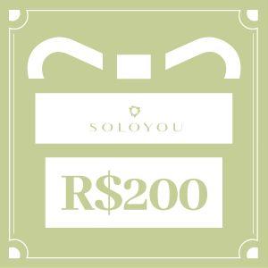 Cartão Presente Surpreenda com SOLOYOU - R$ 200
