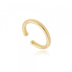 Ear Hook Fake Soloyou Tubo Grosso Semijoia Ouro 18K