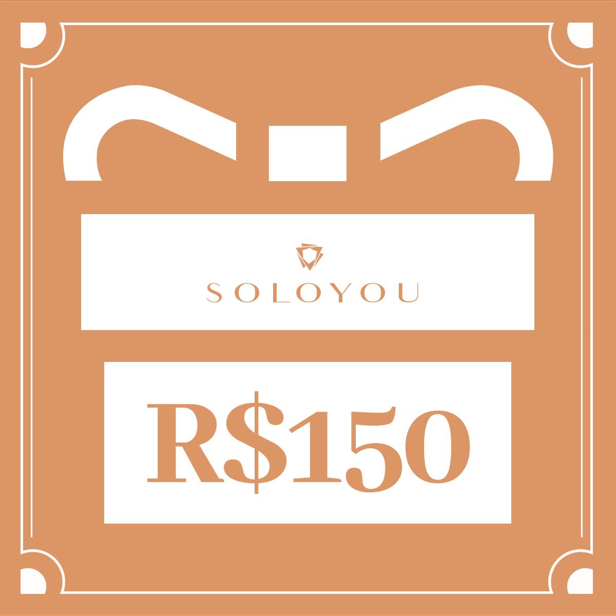 Cartão Presente Surpreenda com Soloyou - R$ 150  - Soloyou