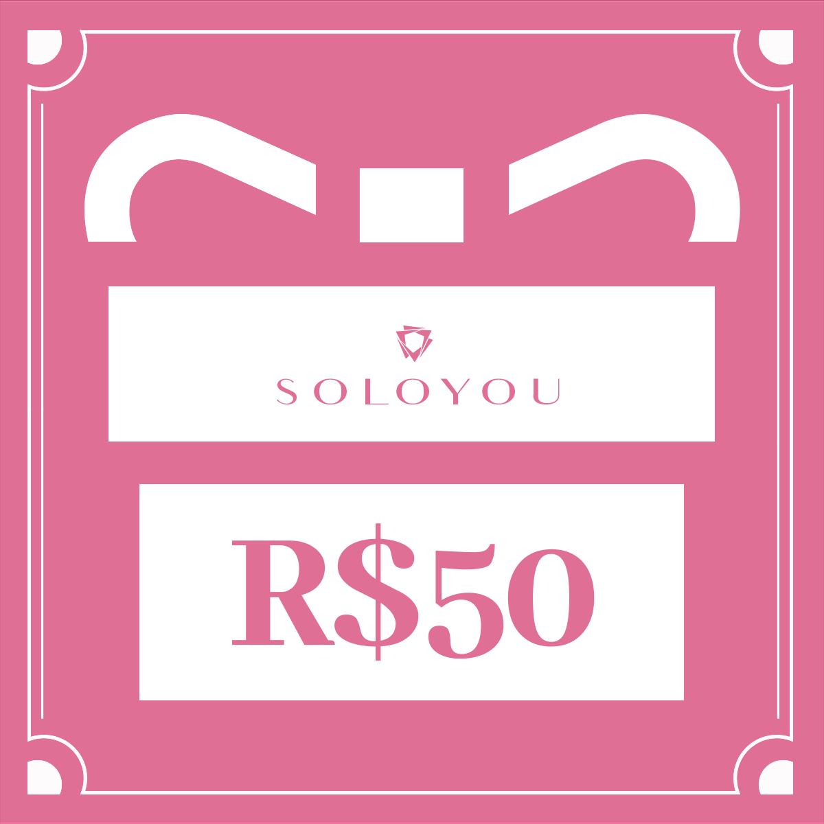 Cartão Presente Surpreenda com Soloyou - R$ 50  - Soloyou